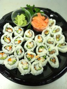 Hand Rolled Sushi Platter