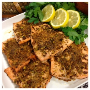 Pist,. Crusted Red Ruby Trout