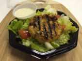 Salad, Salmon Burger